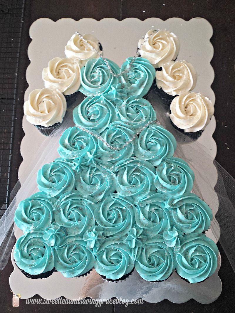 Dress Cupcake Cake Half Sheet