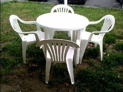 idee salon de jardin plastique blanc