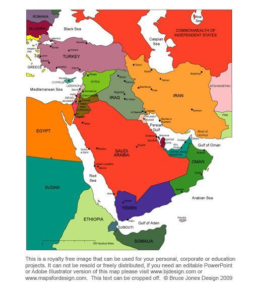 map of egypt isreal jordan and saudi arabia - Google Search maps - new google world map printable