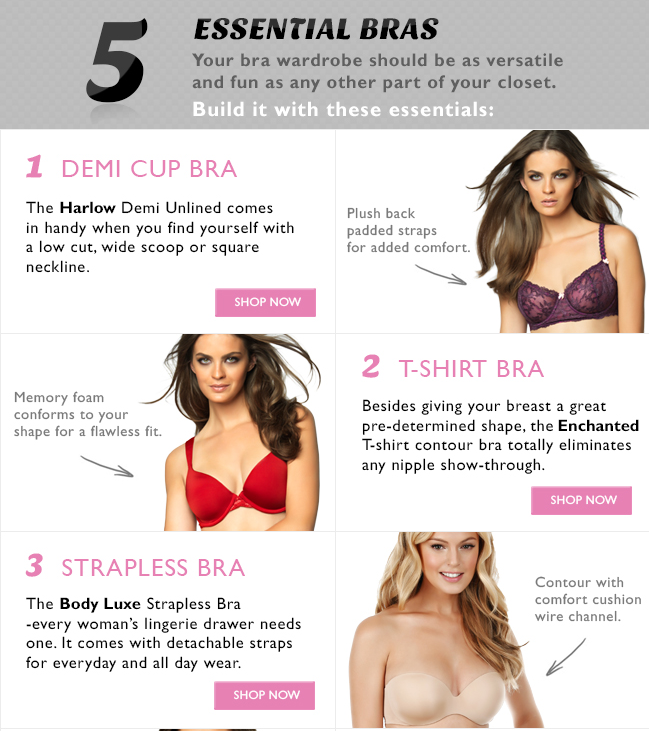 Guide for building your bra wardrobe. 5 essential bras you should have. To  get 2b96d8b7b
