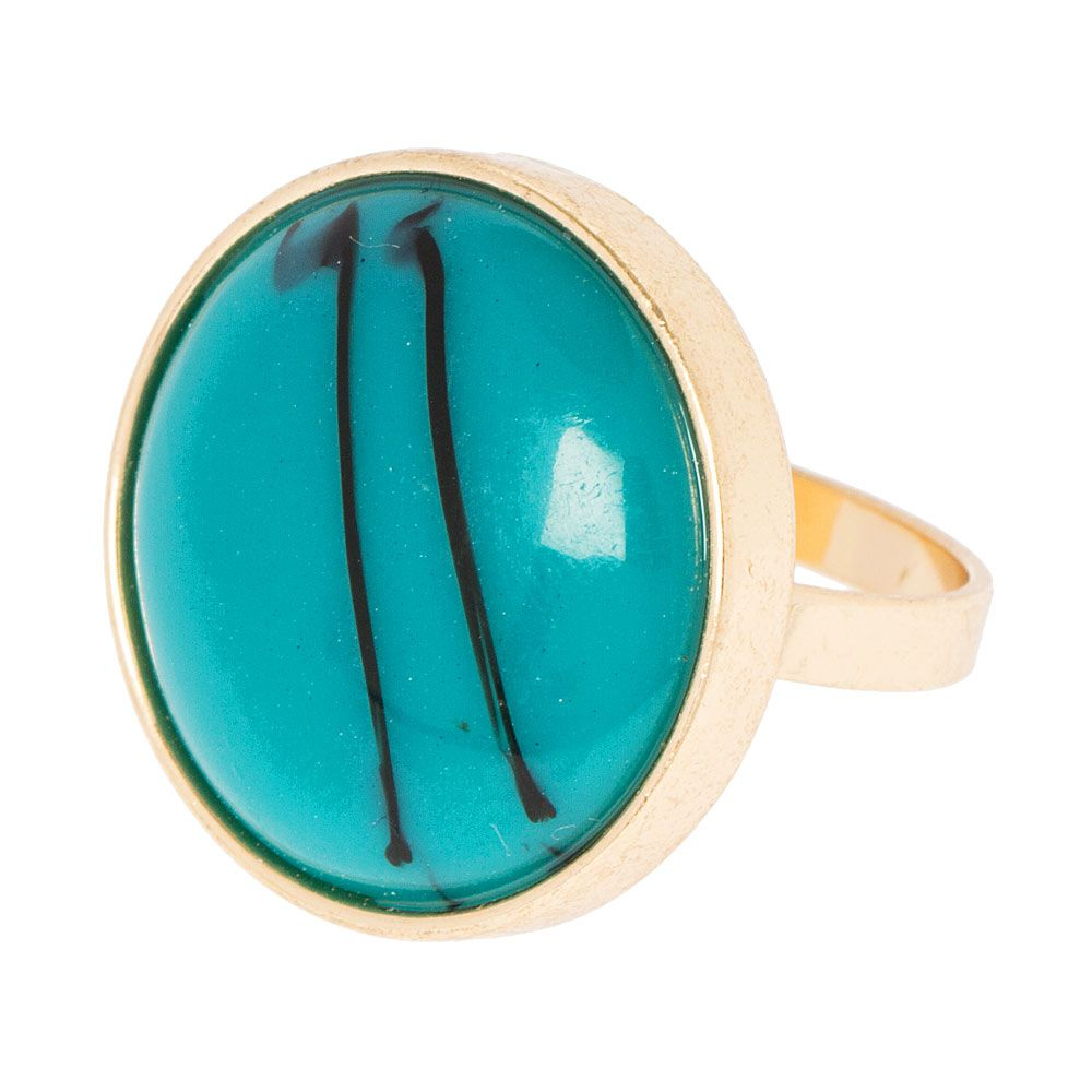 Turquoise Medallion Ring