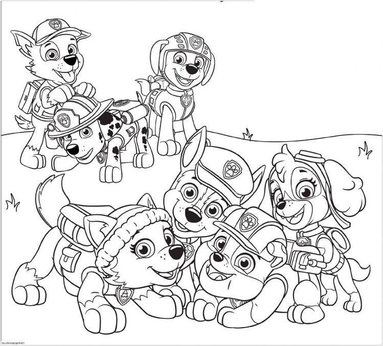 Paw Patrol Coloring Page Paw Patrol Coloring Pages Paw Patrol Coloring Cartoon Coloring Pages