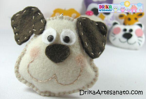 Artesanato em feltro: chaveiros com moldes | Drika Artesanato - Dicas e sugestões sobre artesanato.
