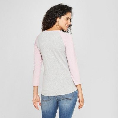 50dc5d712f311 Maternity Happy Vibe Happy Tribe Raglan 3/4 Sleeve Graphic T-Shirt - Grayson  Threads Light Heather Gray S