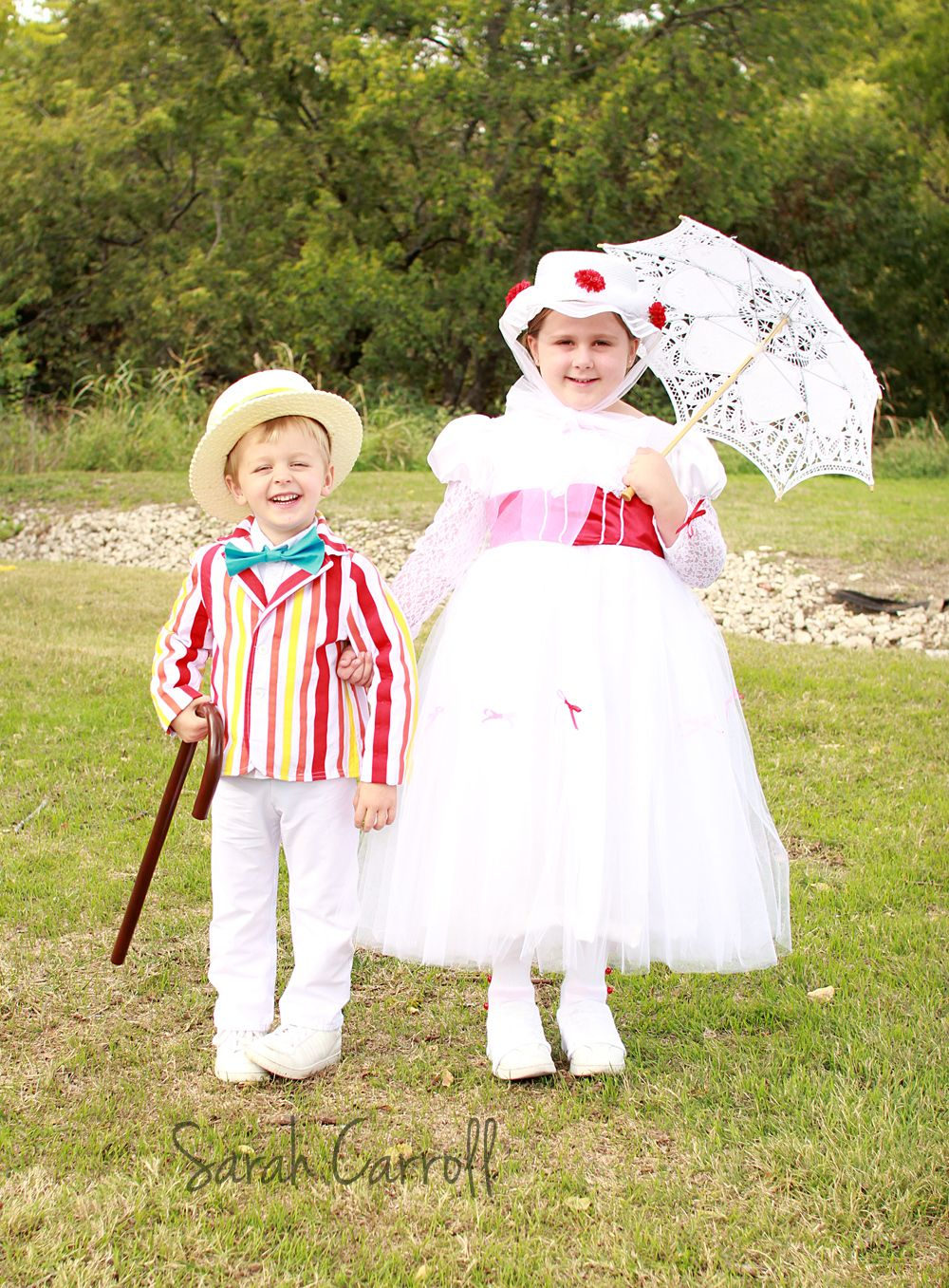 Brother & sister costumes - Mary Poppins & Bert chalk drawing costumes - kid costumes