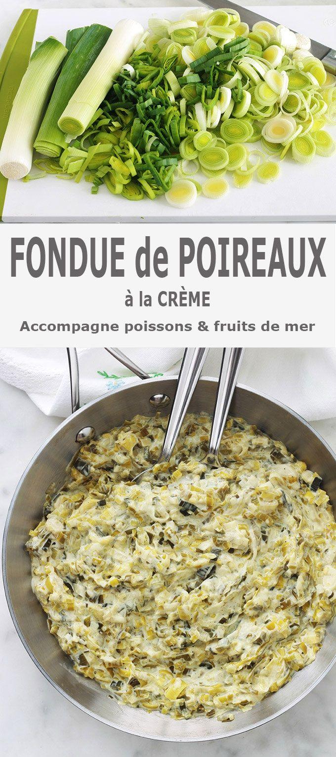 Fondue De Poireaux à La Crème, Recette Facile