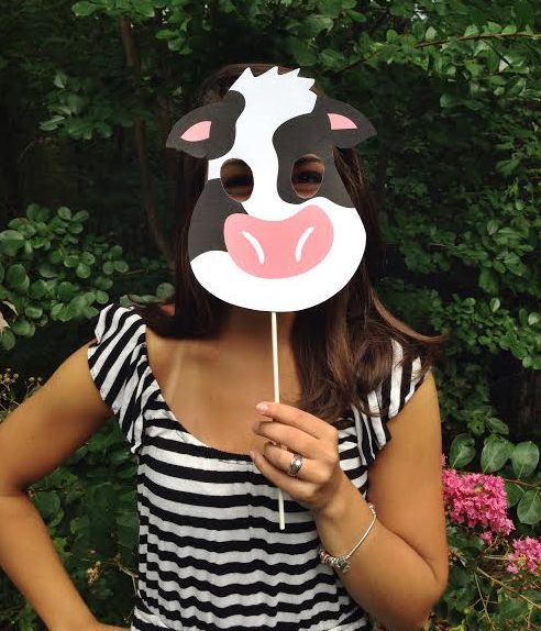 image about Free Printable Cow Mask known as Pin upon Elle Organization