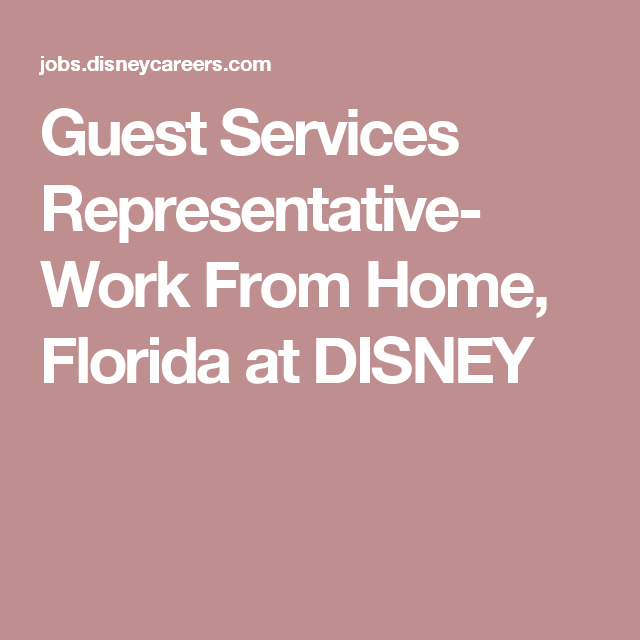 Guest Services Representative- Work From Home, Florida At