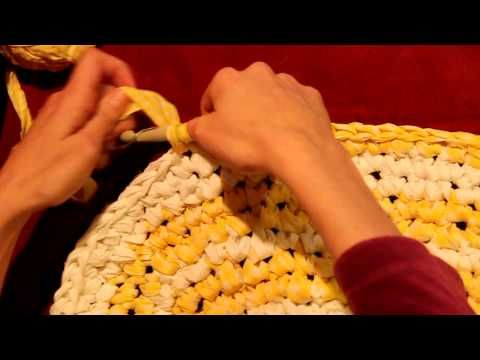 Tutorial For Crocheting Rag Rug From Sheets