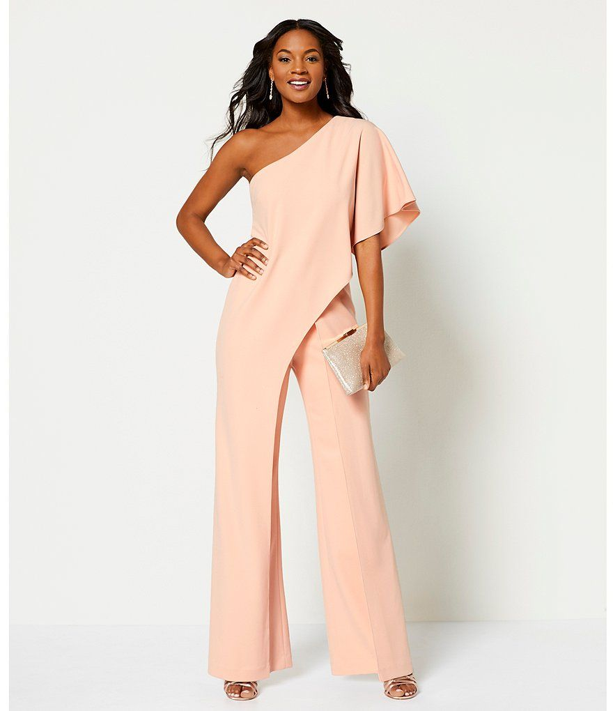 78b8cbd3072 Adrianna Papell Crepe One Shoulder Jumpsuit in 2018