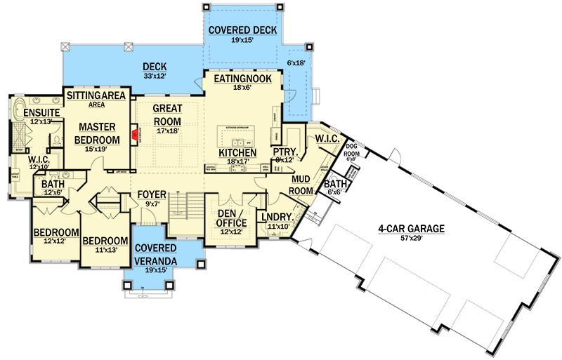 expandable northwest home plan 81602ab 1st floor master suite butler walk in - Northwest Home Floor Plans
