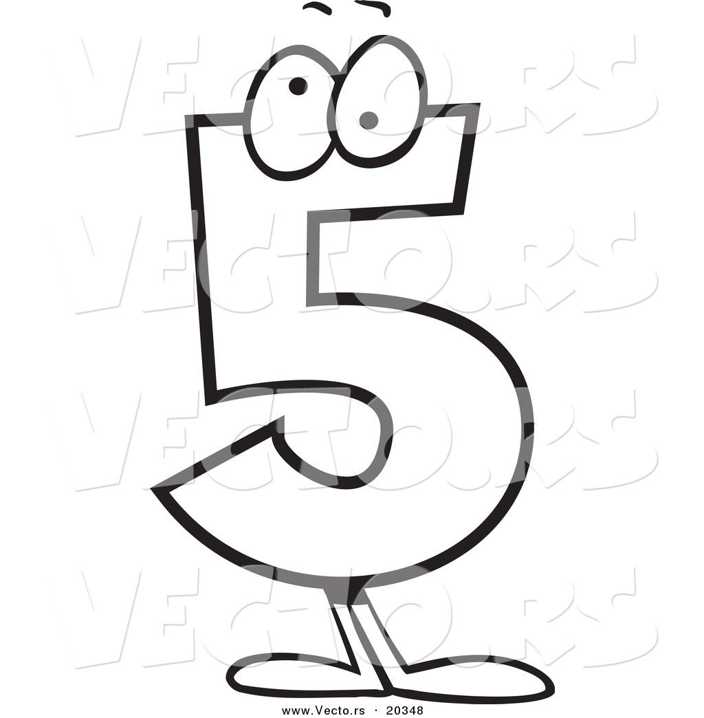 cartoon numbers coloring pages - photo#2