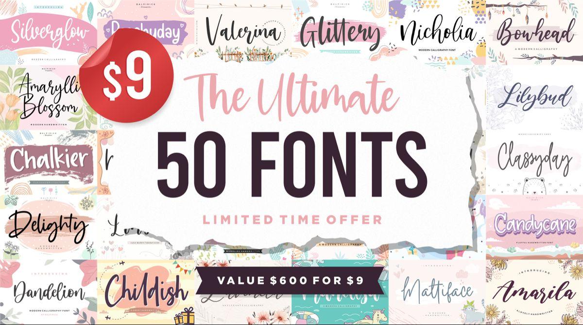 Download The Ultimate 50 Fonts Bundle (Bundle) · Creative Fabrica ...