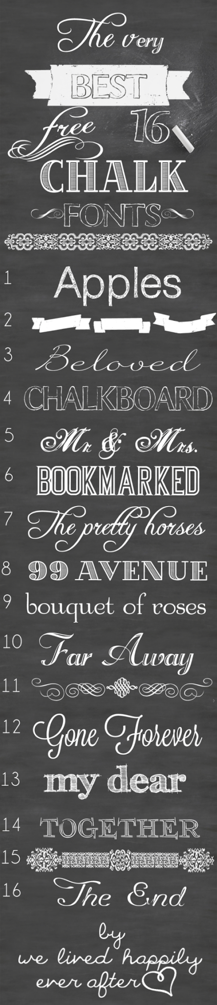 The Very Best 16 Free Chalk Fonts We Lived Happily Ever After Chalk Fonts Free Chalk Font Lettering Fonts