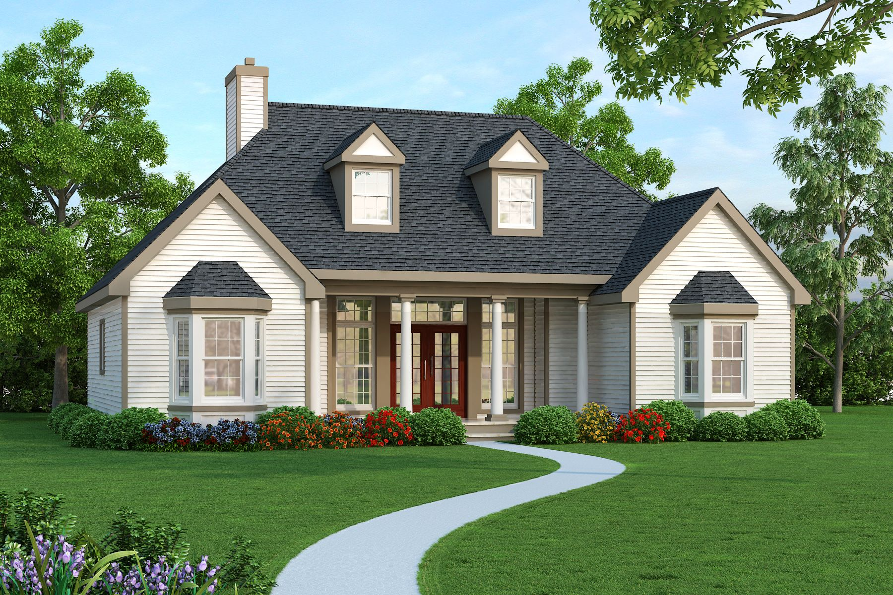 This new ranch house plan offers plenty of living space