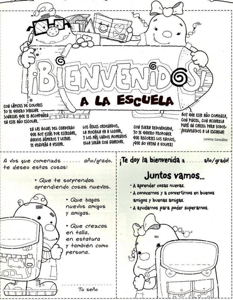 Imprimir | Gelarako baliabideak | Pinterest | Preescolar, Primer día ...
