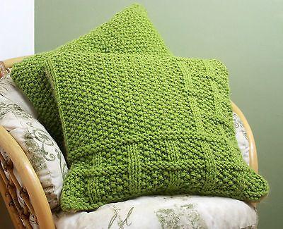 Knitting Pattern 003 Square Lattice Pattern Cushion Covers Super