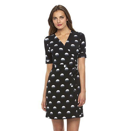 Women S Apt 9 174 Faux Wrap Dress Dress Clothes For Women