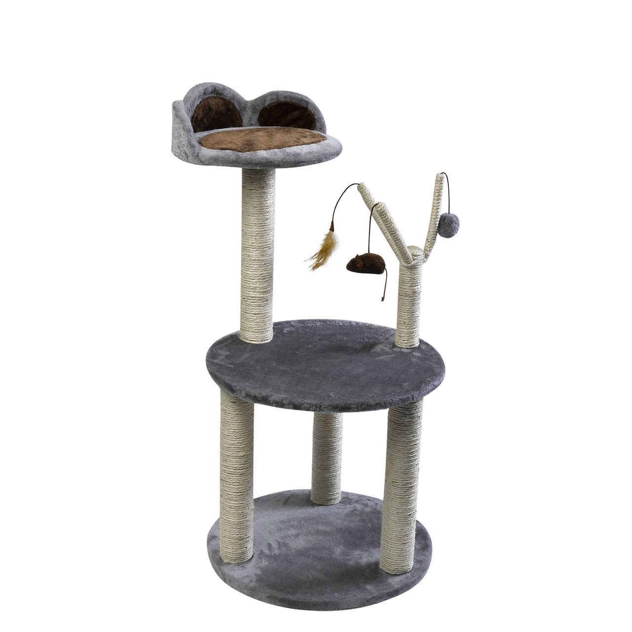 Petface Activity Cat Scratcher with Teaser Toys & LookOut