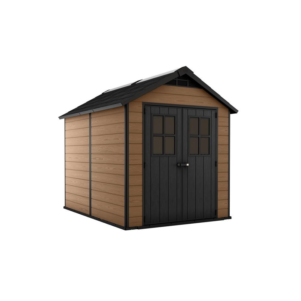 Keter Newton 7 5 Ft X 9 Ft Resin Storage Shed 245115 The Home