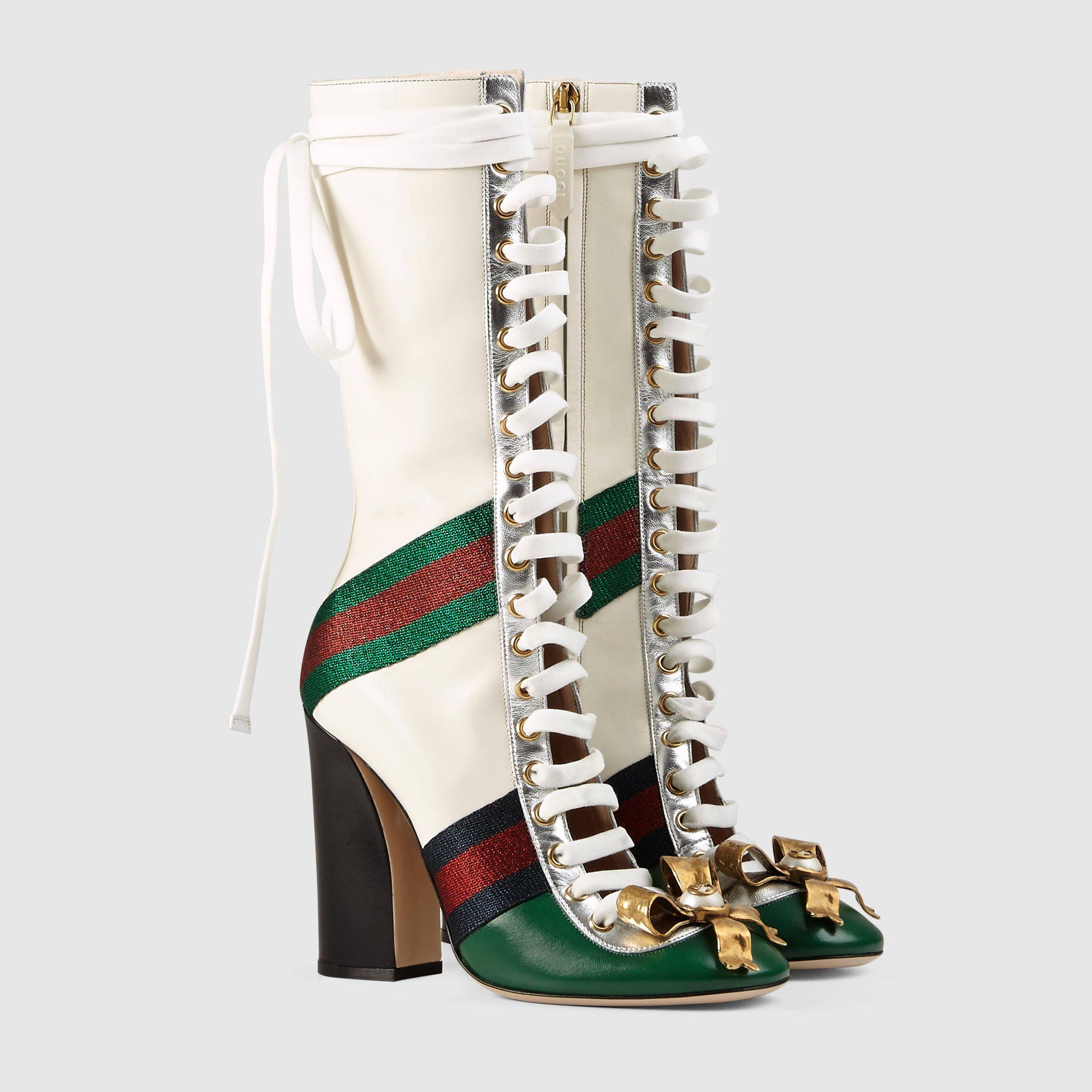 8a889648936e Gucci Women - Finnlay leather high boot - 421942CQXK03175