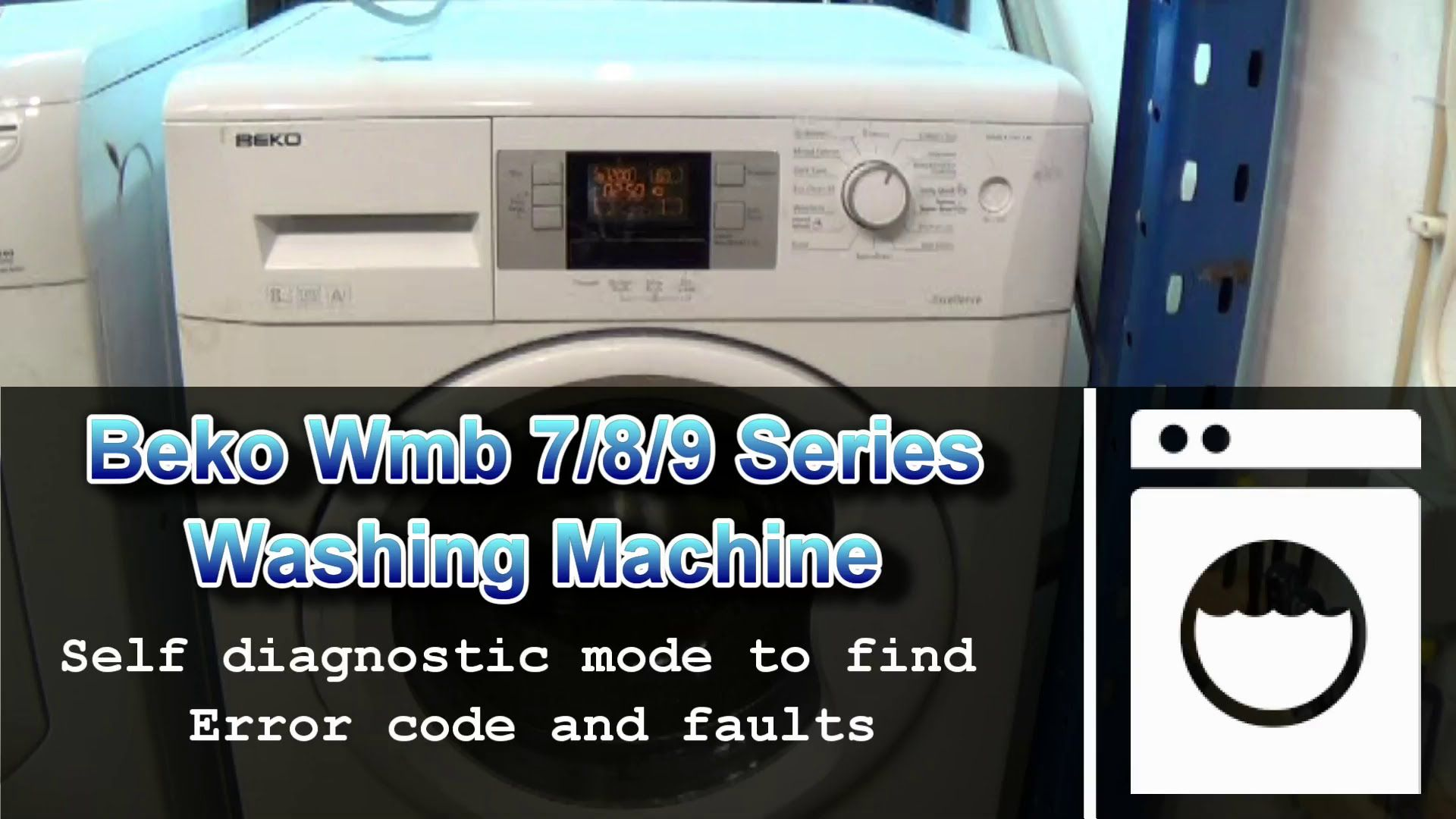 Beko wmb 7, 8, 9 Series washing machines diagnostic & test mode