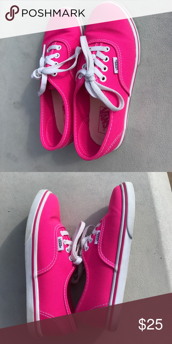 373f541a2c9c94 Barely worn hot pink Vans Youth size 1 Vans Shoes Sneakers