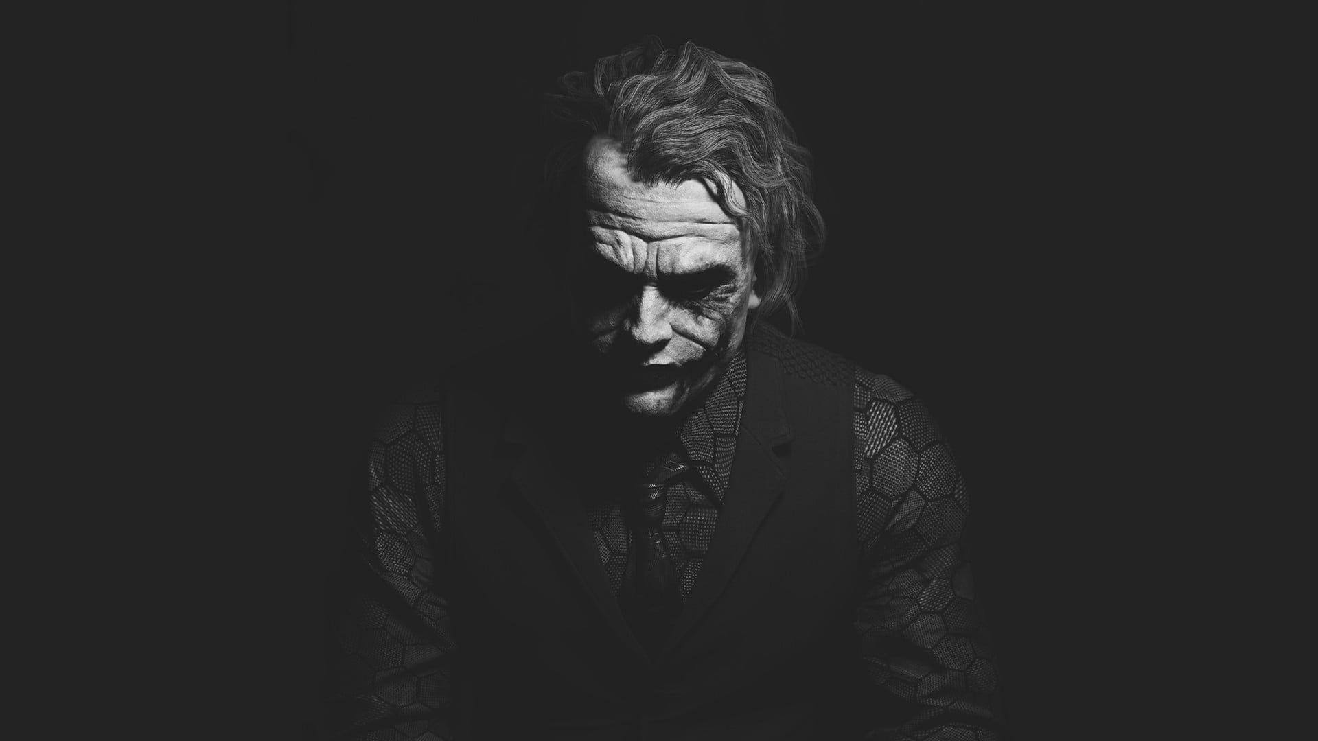 Joker Wallpaper Joker Heath Ledger Monochrome Dark 1080p Wallpaper Hdwallpaper Desktop Black Wallpaper Iphone Dark Joker Background Joker Hd Wallpaper Dark theme 1080p joker hd mobile