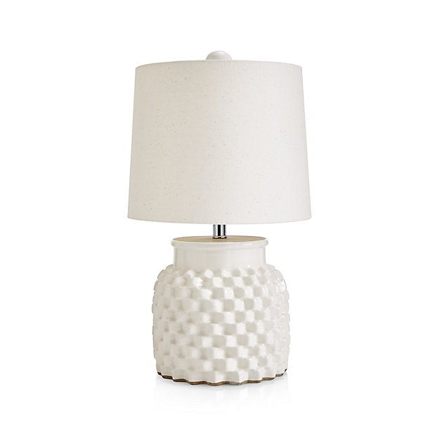 Rati Small White Table Lamp Reviews Crate And Barrel White Small Table Small White Table Lamp Table Lamp