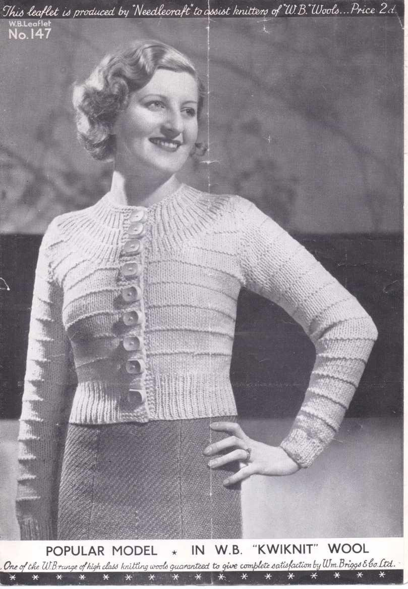 30s ladies yoke cardigan vintage knitting pinterest vintage free vintage knitting pattern a popular model ladies yoke cardigan bankloansurffo Image collections