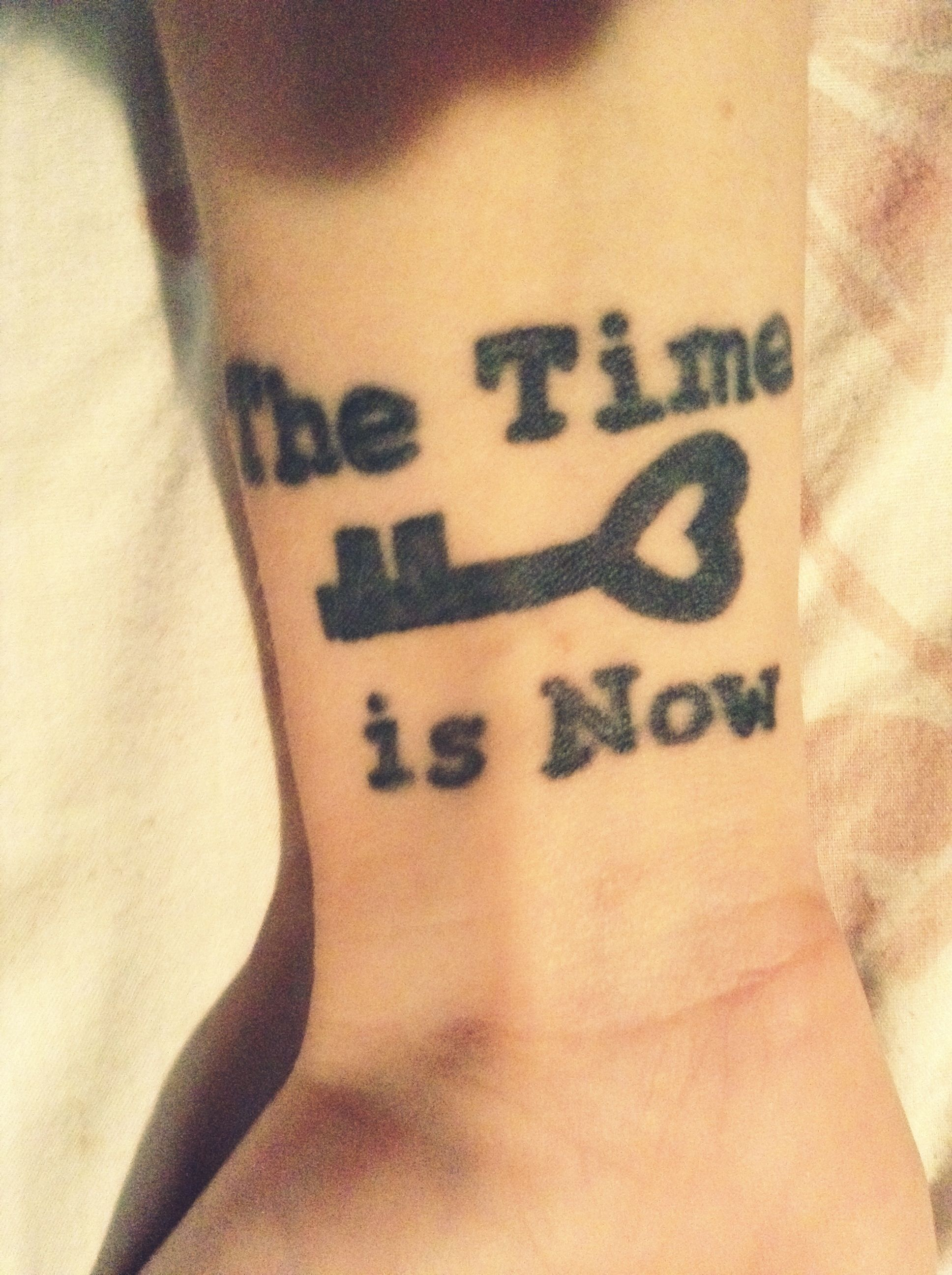 My Wrist Tattoo ! The time is now.