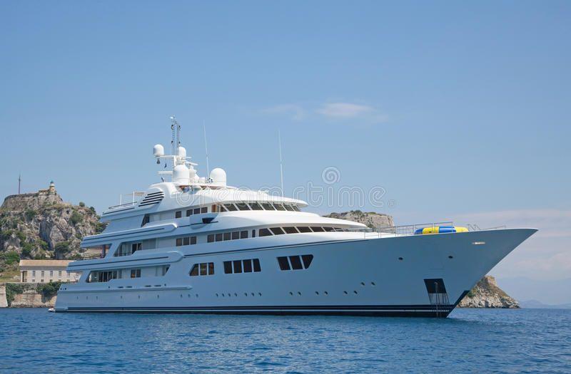 Luxury Large Super Or Mega Motor Yacht In The Blue Sea Luxury