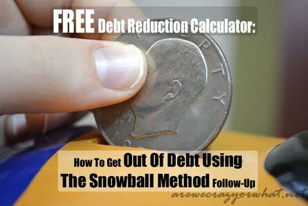 FREE Debt Reduction Calculator How To Get Out Of Debt Using The - debt reduction calculator