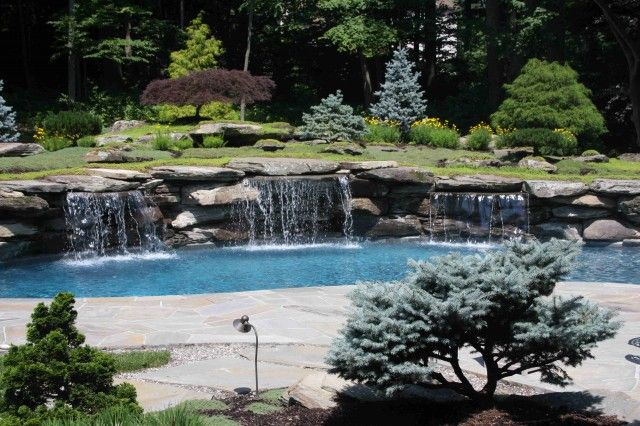 Pin By Samantha Wentworth On Outdoor Space Pool Water Features Pond Water Features Backyard Pool Landscaping