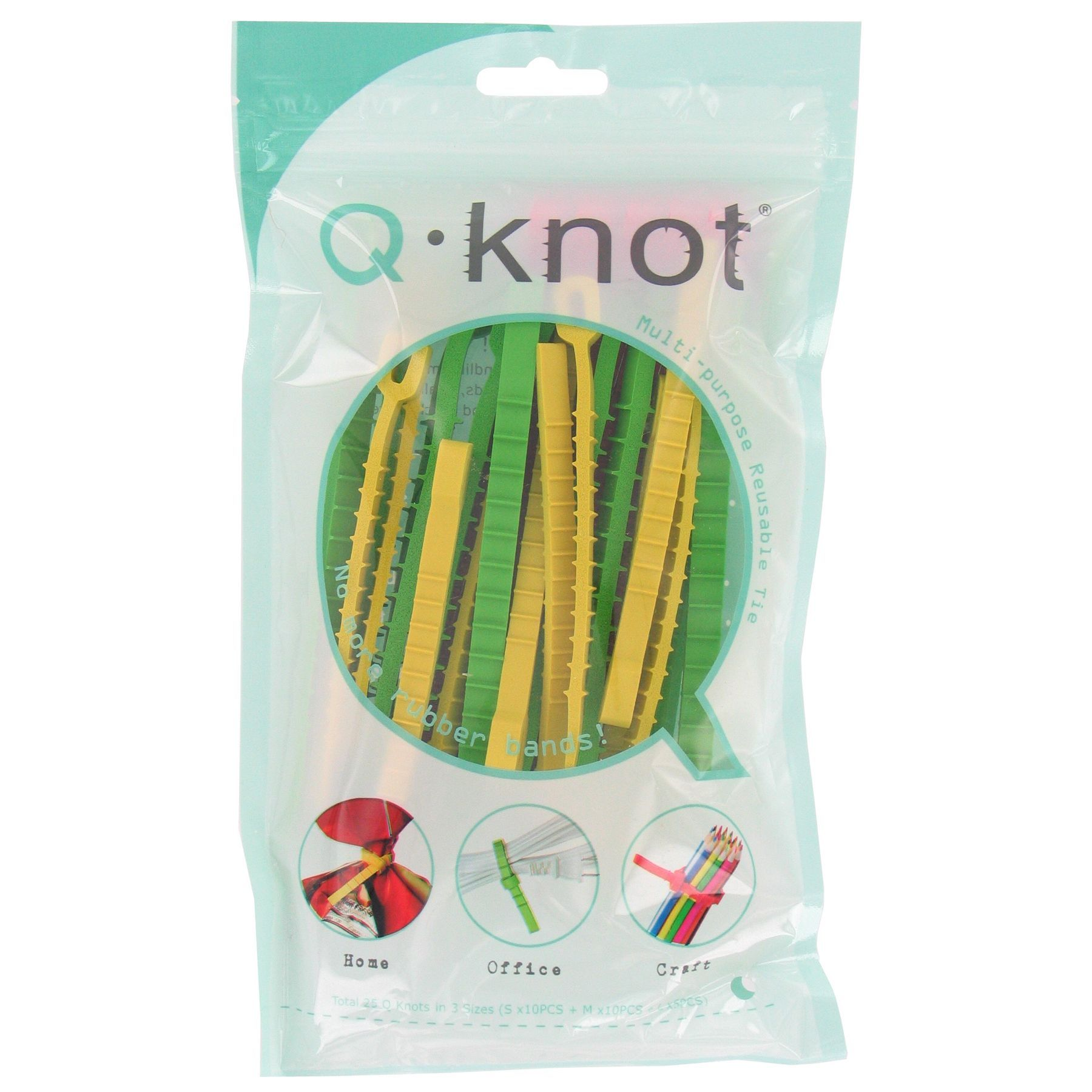 Q Knot UTW-QK25-01 Q Knot Multi Purpose Reusable Ties 25-count by UT Wire. Organize  CordsCable ...
