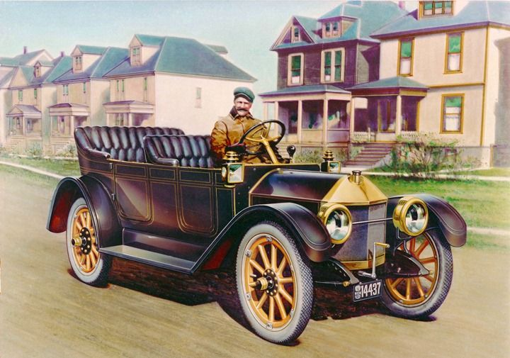 Louis Chevrolet At The Wheel Of His Prototype For The 1912