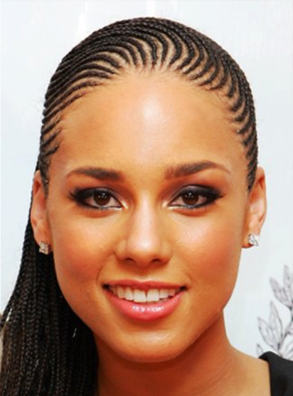 scalp braids | Alicia Keys full micro braids Cute Micro