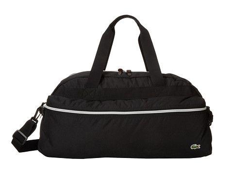 3d086712c0 Lacoste Backcroc Weekender Black - 6pm.com   Gym Bags   Lacoste ...