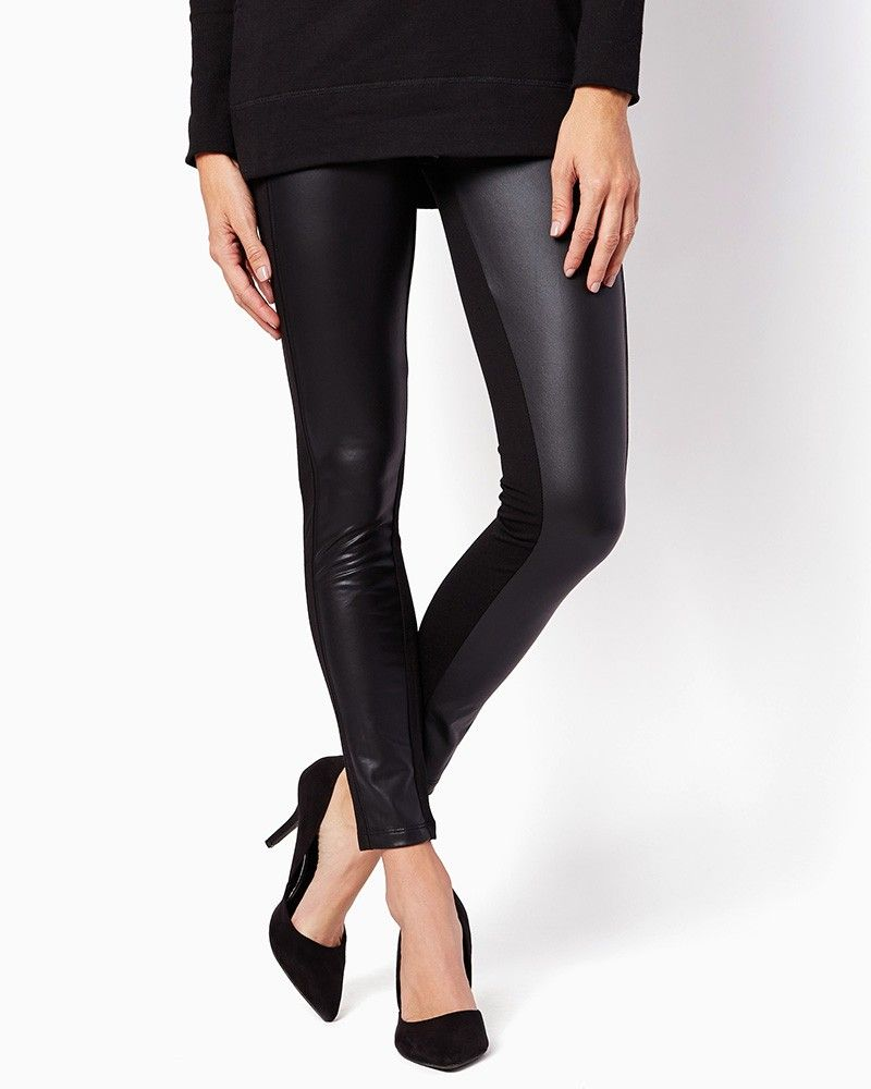 charming charlie   Faux Leather Front Leggings   UPC: 5090044523 #charmingcharlie