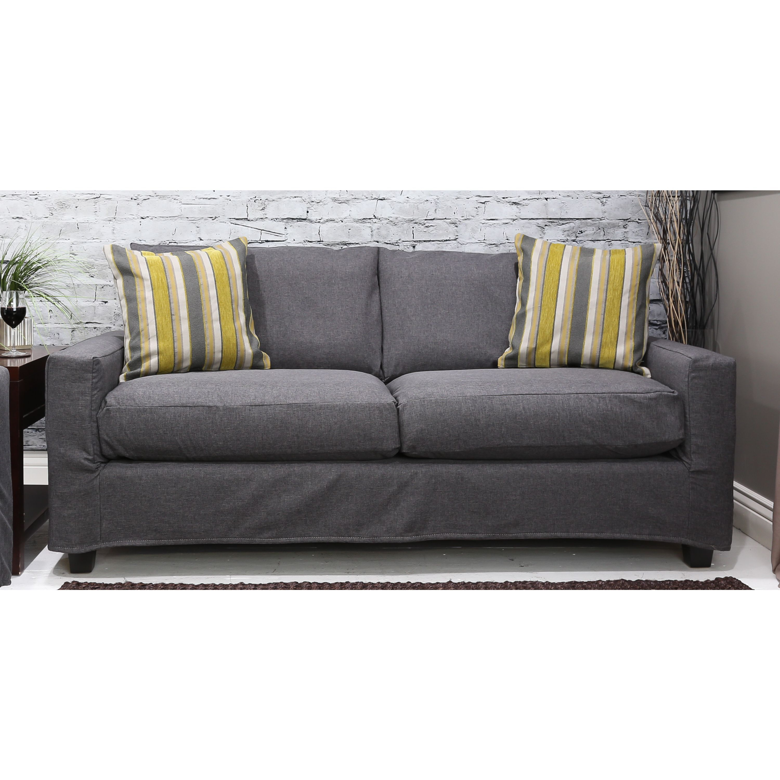 It Has An Alluring, Neutral Grey Color With A Polyester Linen Finish That  Will Dress Your Sofa In Panache.