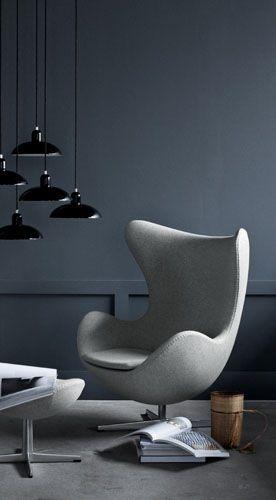Egg Chair Stof.Pin En Interieur