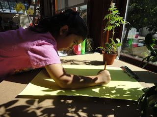 Using flowers to create different kinds of shadow drawings