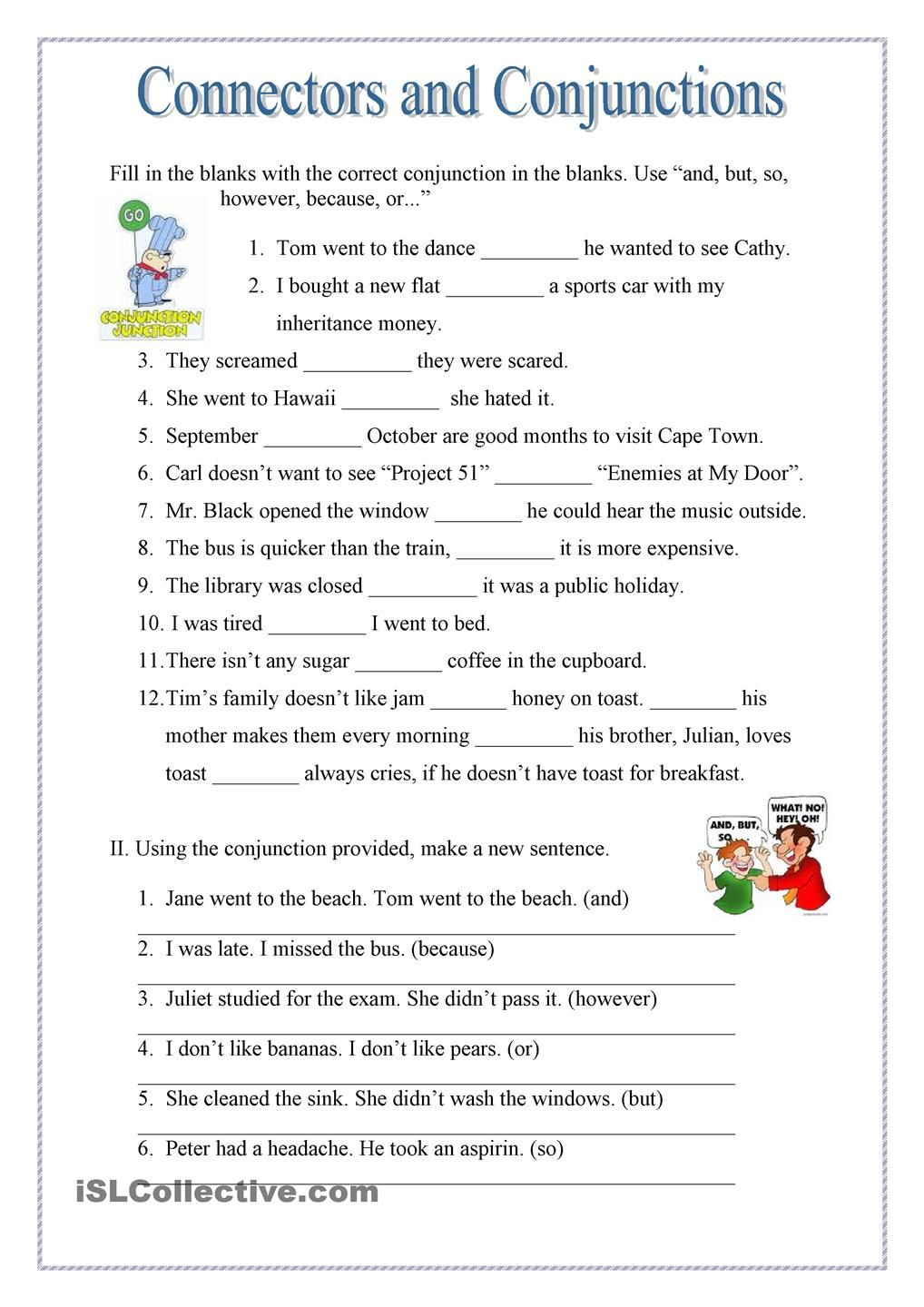 worksheet Worksheets On Connectors In English Grammar conjuctions and connectors pinterest english grammar worksheetsgrammar