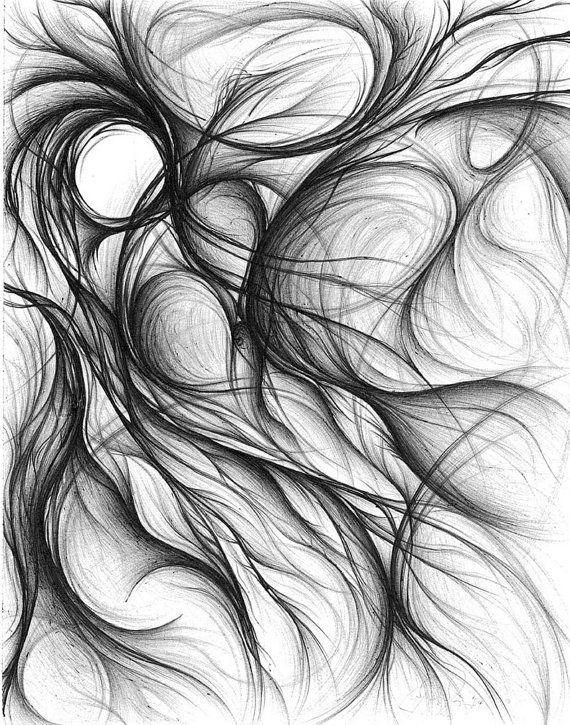origin pen ink abstract drawing by fifthseasonart on etsy 400 00