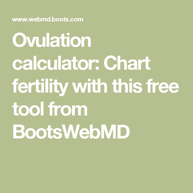 Ovulation calculator: Chart fertility with this free tool