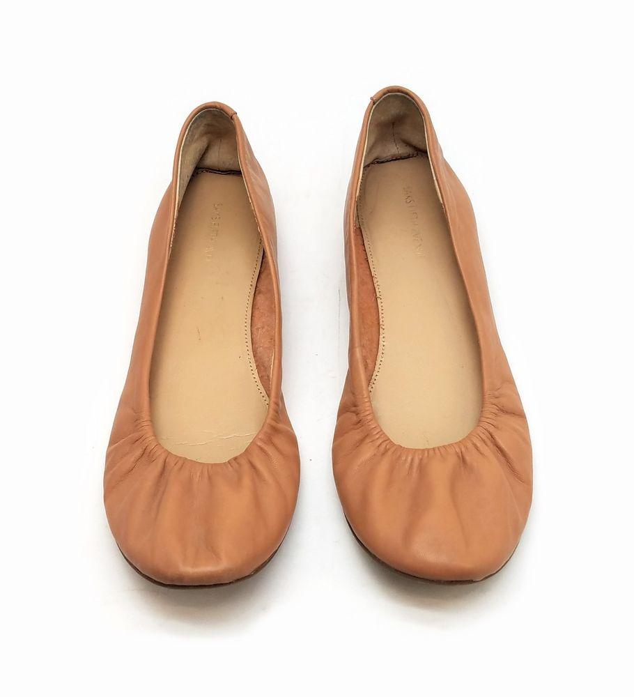 1d6faceecc8 BLUE Saks Fifth Avenue Womens Shoes Nude Leather Ballet Flats Size 8.5 M   BLUESaksFifthAvenue  BalletFlats  Casual