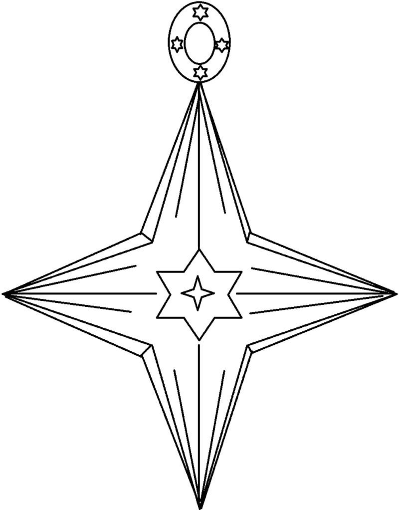 Christmas Star Ornament Coloring Page Christmas Coloring Pages