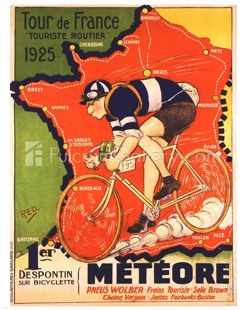 1949 Tour de France Magazine Cover Art Retro Vintage Cycling Velo Poster Print