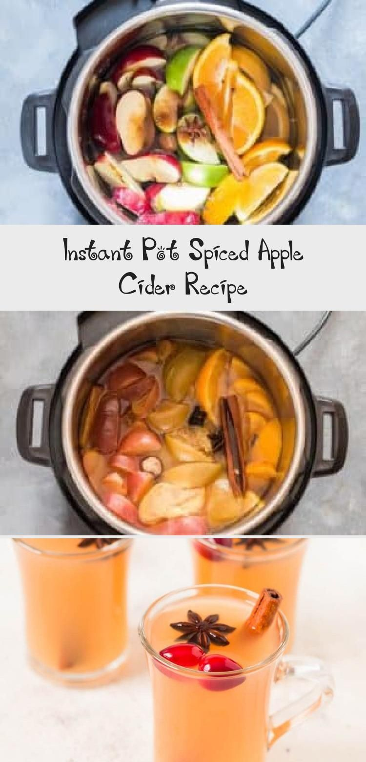 Instant Pot spiced apple cider recipe is quintessentially autumn. This homemade hot apple cider is made from fresh apples. Citrus and fall spices are added to it to make it a perfect spiced treat for a winter night.It's naturally vegetarian, vegan and gluten-free.#instantpot #instantpotrecipes #applecider #fallrecipes #drinks #homemadefromscratch #RecipeVideos #CauliflowerRecipe #ItalianRecipe #PaleoRecipe #BakingRecipe #spikedapplecider Instant Pot spiced apple cider recipe is quintessentiall #spikedapplecider