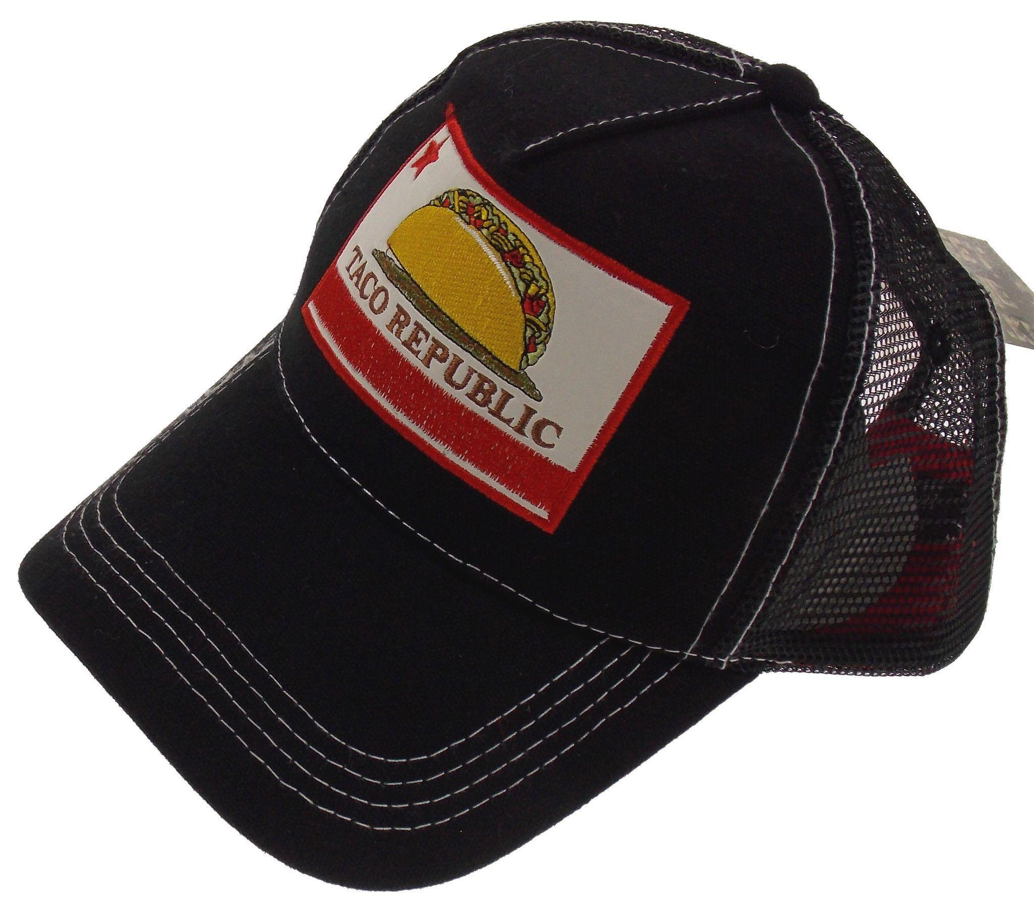 1dc715bdfde Taco Republic Makerwear Black Hat Baseball Cap OSFM Adjustable Christianus